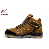 Men Brown Durable Composite Safety Shoes CE Approved For Industrial Workers Manufactures
