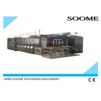 China Steel Flexo Printer Slotter Die Cutter , Corrugated Box Printing Machine on sale