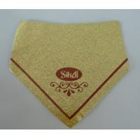 Gold Aluminum Foil Labels Water Resistant Self Adhesive With Logo Printing Manufactures