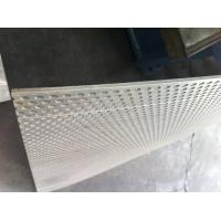 thick Punched Stainless steel / Brass Perforated Metal Panels With round Hole