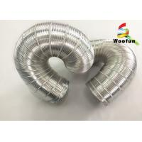 Quality 3m Length Silver Expandable Insulated Flexible Semi Rigid Aluminum Pipe for sale