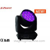 Zoom Moving Head LED Lights 19 Pcs*12w 4 In 1 RGBW High Brightness Osram LEDs  X-65 Manufactures