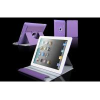 Women Leather Tablet Case 360 Rotation Purple Apple iPad Protection Case Manufactures