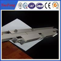6060 / 6063 anodizing Aluminum Solar Rail of Solar Mounting Systems Manufactures