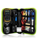 60w Soldering Iron Kit Temperature Adjustable Plastic Aluminum Alloy Green K010 Manufactures