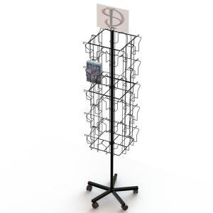 40 VDs Wire Pockets Books Metal Floor Spinner Display Rack Manufactures