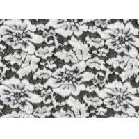White Flower Brushed Lace Stretchable , Rayon Nylon Spandex Fabric CY-LQ0003 Manufactures