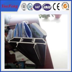 Black Anodizing Extruded Aluminum Profile, Aluminium Extrusion Profile Manufactures