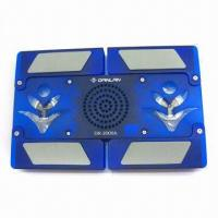 China Multifunction Laptop Cooler Pad, OEM Services are Provided, with Stereo Speakers on sale