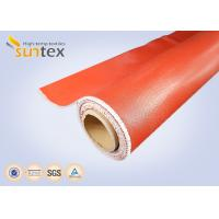 Colored Covers Thermal Insulation Fabri / Silicone Impregnated Fiberglass Cloth  Manufactures