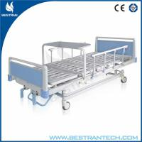 Quality Cold - Rolled Steel Plate Manual Medical Hospital Beds , Foldable Dinning Board for sale