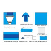 China Clinics Cloth Surgical Pack Wraps Non Woven Sterile Procedure Pack Eutocia on sale