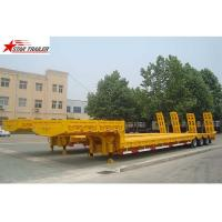 Heavy Duty Hydraulic Low Bed Semi Trailer Swan Neck Gooseneck Light Yellow