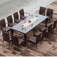 Outdoor Patio Wedding Party Dining Set With 12 Seater And