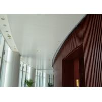 Quality Indoor Decoration Aluminum Suspended Strip Ceiling Panel Beveled Edge Eco for sale