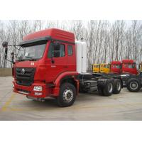 50 Ton Heavy Semi Truck Mover , CNG 371HP 3 Axle 6X4 Tractor Head Trucks Manufactures