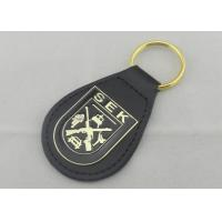 SEK Leather Key Chain Iron Personalized Leather Keychains With Brass Plating Manufactures