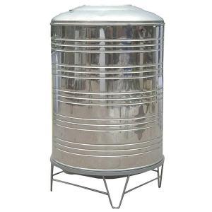 China Ss304 / 316 Round Metal Water Tank , Durable Round Water Storage Tanks on sale