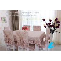 China Floral design Cotton Table Sheet For Six Seater Dining Table, stylish print tablecloths, on sale