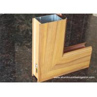 Aluminium Side - hinged Door Extrusion Profile Wood Grain Effect Manufactures