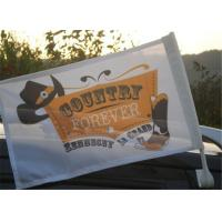 Outdoor Automotive Car Advertising Flag Banners With Pvc Plastic Pole Manufactures