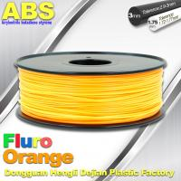 Eco Friendly ABS 3D Printer Filament 1.75mm Fluro Orange 3D Printing Filament Manufactures