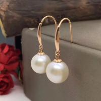 Buy cheap Good Uniformity Hook Dangle Earrings With White Freshwater Cultured Pearl from wholesalers