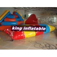 Red / Yellow / Blue 0.9mm PVC Inflatable Water Toys / Saturn Slide With Blob Ball Manufactures