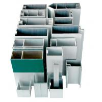 Aluminum Curtain Wall Profile For Construction , Mill Finished / Powder Painted / Anodized Manufactures