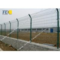 China Railway / Subway Barbed Wire Fence Pvc Coated Anti Impact Salt Spray Resistance on sale