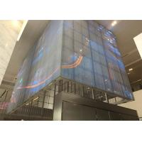 Quality P5mm SMD 3-in-1 RGB Outdoor Transparent LED Video Wall Outdoor Glass LED Screen for sale