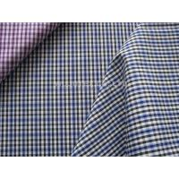 China Soft Handfeel 100% Cotton Yarn Dyed Fabric  Women-specific Plain Weave Plaid Fabric on sale