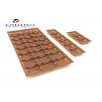 China Brown Color Plastic Retail Packaging Boxes Vacuumformed PET Tray Pack Chocolates on sale