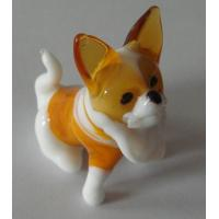 Sculpture Handmade Glass Animals White Dog For Anniversary Gift Manufactures