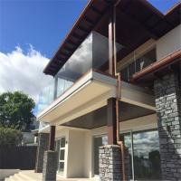 Quality Exterior Best price aluminum U shape base frameless glass channel railing for sale