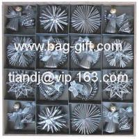 China Straw handcraft & straw christmas decorations on sale