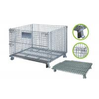 China Collapsible Steel Mesh Storage Cage For Warehouse Various Colors / Sizes on sale