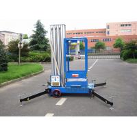 China Aluminium Alloy Single Mast Lift Hydraulic Elevating Platform With 10 M Working Height on sale