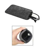 Dark Grey Ladies Soft Sunglass Case With A Plush Styrene Interior Manufactures