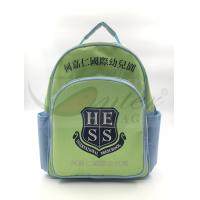 Light Green 420D Polyester Kids School Backpacks For Traveling / Outdoor Manufactures