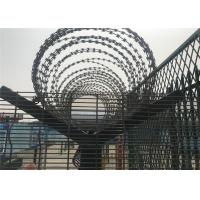 China 358 high security wire fence 12.7mm x 76.20mm diameter 3.00mm/4.00mm powder coated RAL 9001 on sale