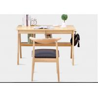 OAK Solid Wood Computer Desk , Wood Writing Desk With Two Sliding Drawers Manufactures