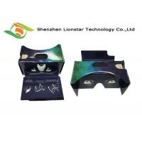 Compatible PMMA Lens Cardboard VR Glasses For Real Estate Sale / 3D Entertainment Manufactures