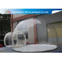 China 0.7mm Transparent Pvc Inflatable Camping Bubble Tent With Floor CE UL EN14960 on sale