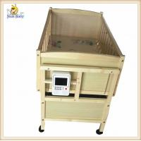 China Custom Portable Wooden Baby Cribs With Changing Table Mp3 Music Player on sale