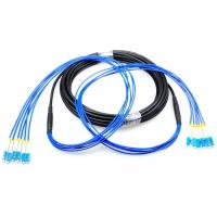 China LC - LC Single Mode Patch Cord , Armored 4 Core Optical Fiber Cable For Outdoor on sale