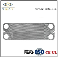 China M15m Titanium Channel Plate for Sea Salt Water Gasket Plate Heat Exchanger on sale