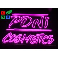 DC12V Voltage Pink Color Dual Lines Customized Made LED Neon Sign For Interior Shop Signage Manufactures