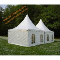 Outdoor UV Resistance Fireproof 4x4m Powder Coated Steel Party Event  Pagoda Tent Manufactures