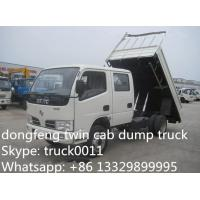 China best price Dongfeng Twin cab RHD mini 3ton dump truck for sale, factory direct sale CLW Brand RHD 4*2 3tons-5tons tipper on sale